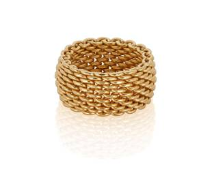 A Tiffany & Co. woven gold band
