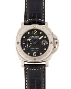 A Panerai Luminor Titanium wristwatch
