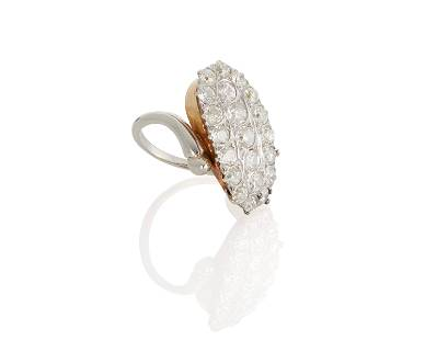 A diagonal diamond ring