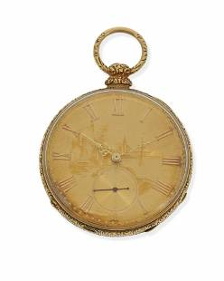 A gold pocket watch, Breitling