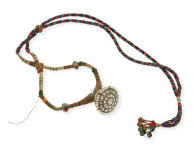 An Indian enamel and gem-set necklace