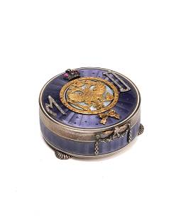 A Faberge-style guilloche snuffbox