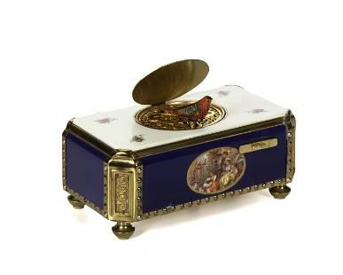 A Reuge singing bird automaton music box
