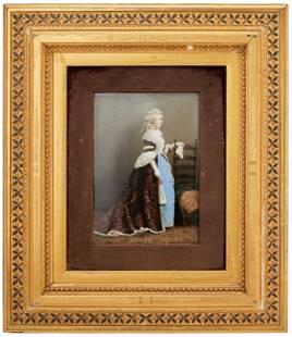 A framed KPM portrait plaque