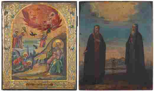 Two Russian Icons Late 19th/early 20th Century