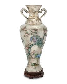 A large Chinese silver and cloisonne enamel vase, Wang