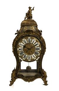 A large French boulle mantle clock