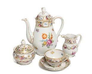 """A Schumann-Bavaria """"Empress Dresden Flowers"""" porcelain"""