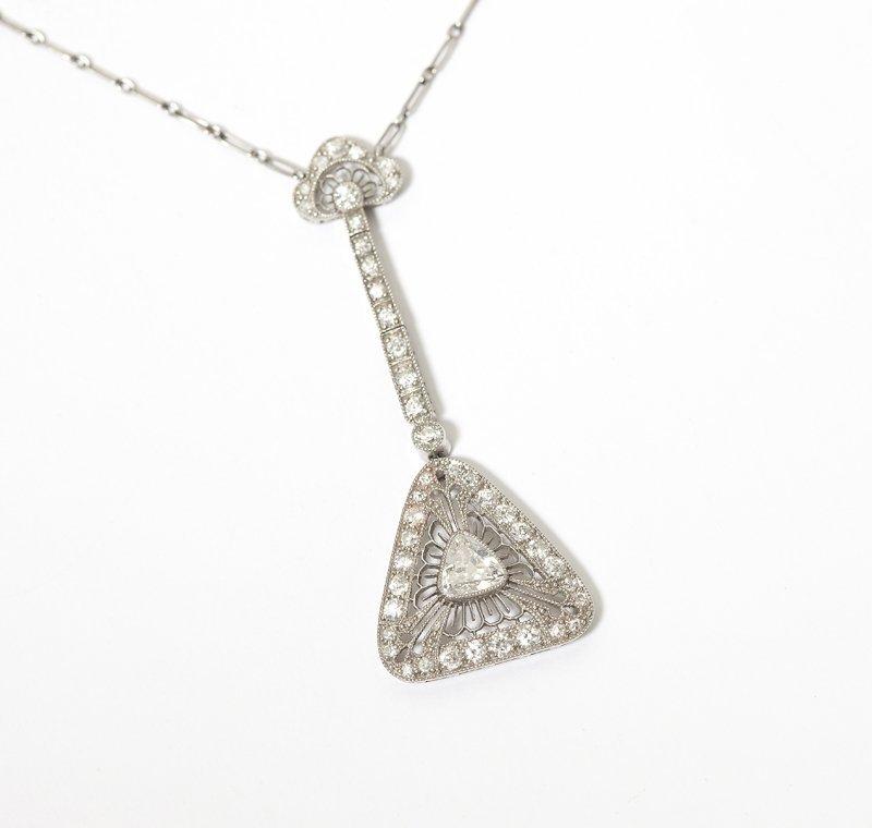 1008: A diamond and platinum necklace
