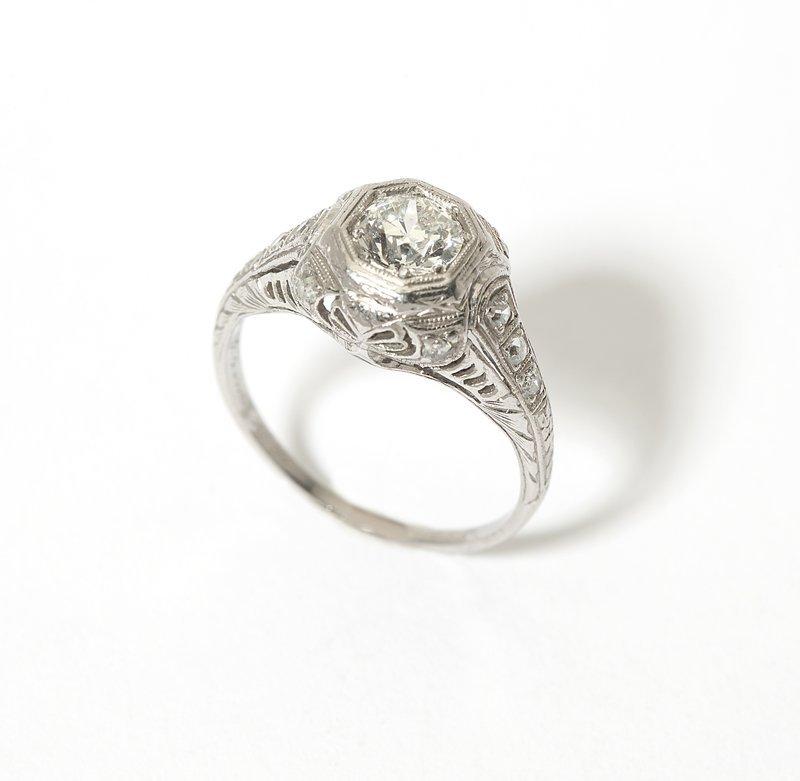 1010: A diamond and platinum ring