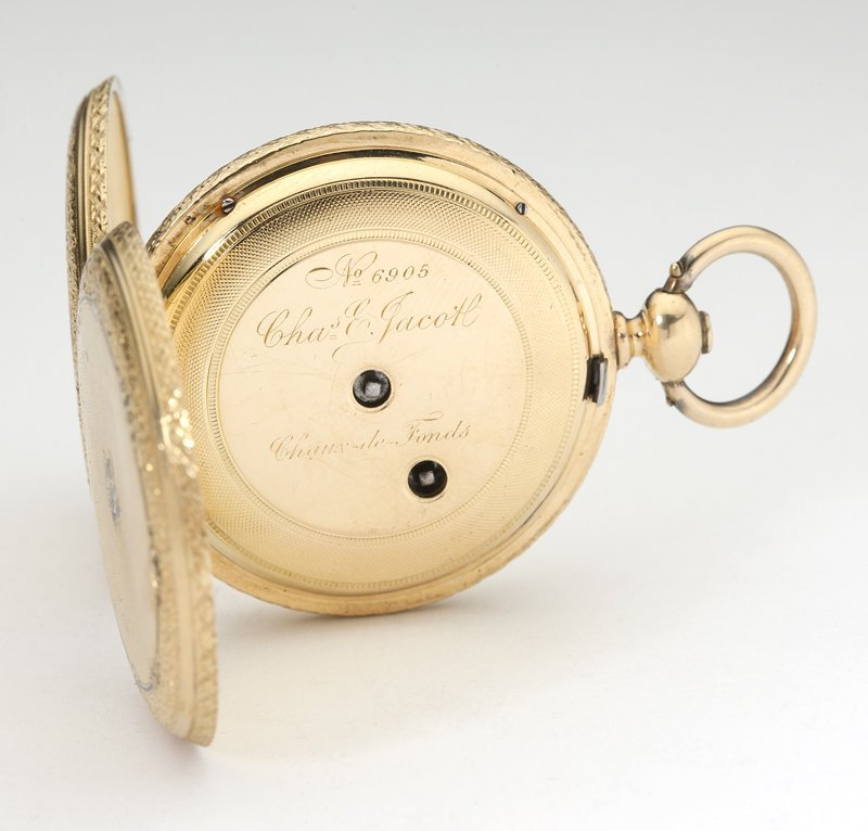 1014: A gold hunters case pocket watch, Charles E. Jaco - 3