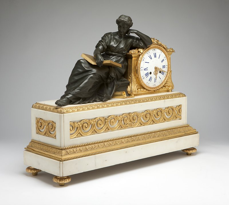 1018: A Napoleon III gilt and patinated bronze and whit