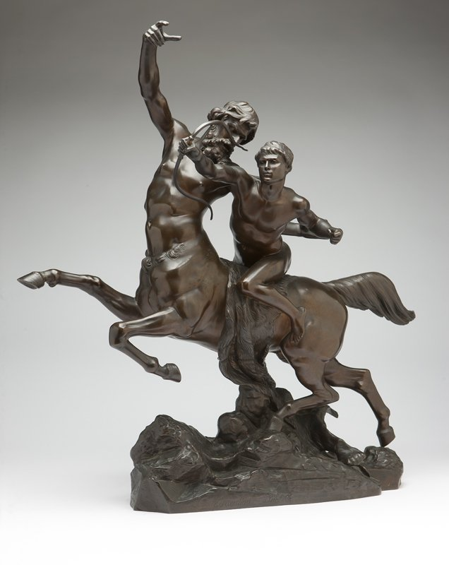 1019: A Continental patinated bronze mythological group
