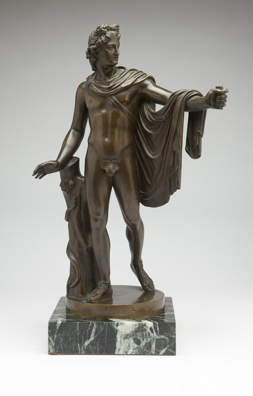 1049: A patinated bronze figure of an archer