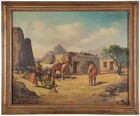 1082: Early 20th Century Navajo Scene