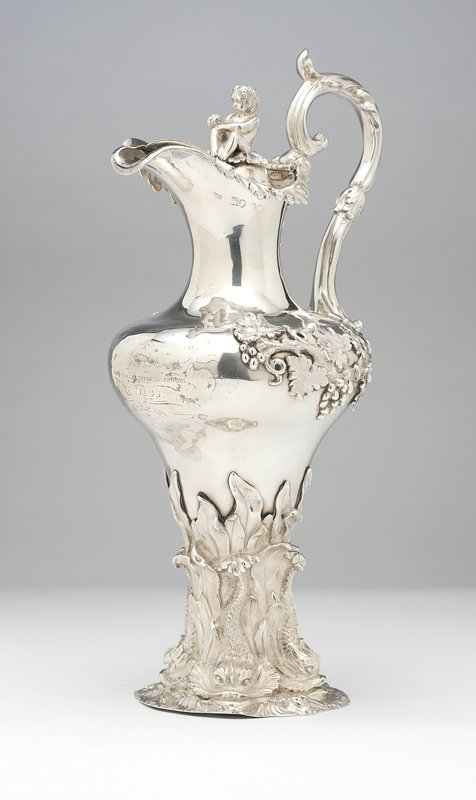 1003: An English sterling silver ewer, Terrey