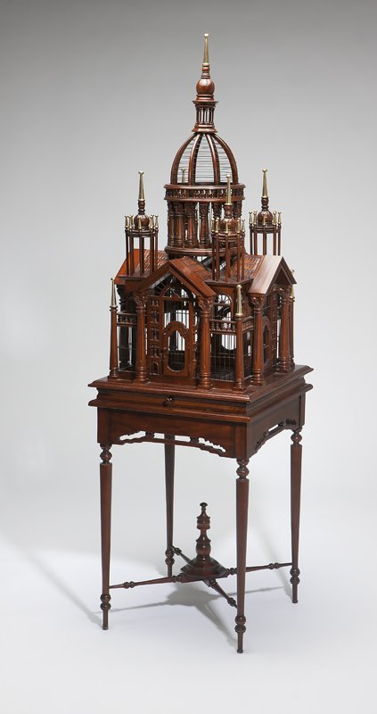 1016: A Maitland-Smith architectural birdcage on stand