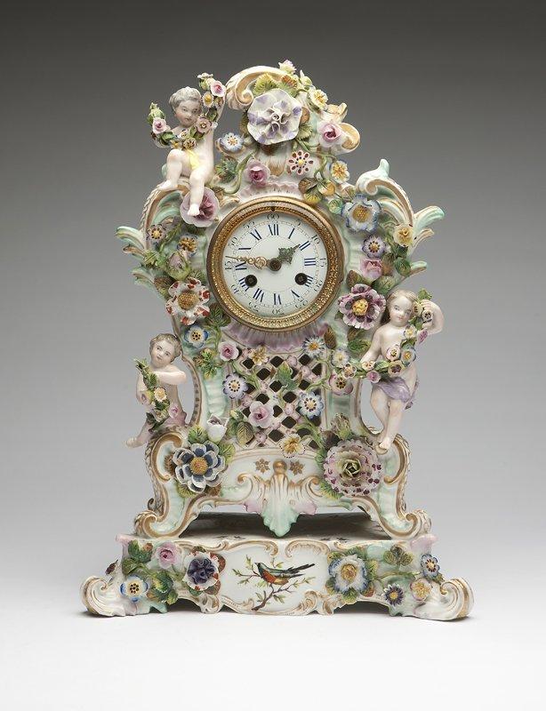 1003: A Meissen porcelain mantle clock