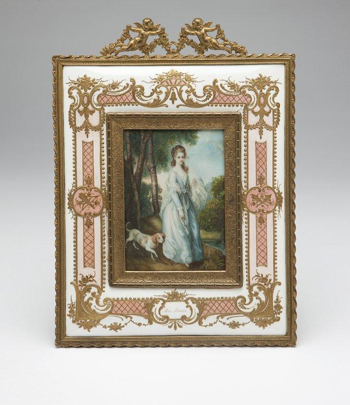 1007: An enameled and gilt metal-framed portrait miniat