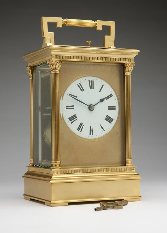 1009: A French 'Giant' brass repeater carriage clock