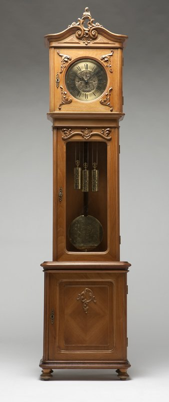 1020: A French provincial style tall case clock