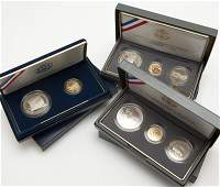 1139: Three proof sets of US commemorative coins