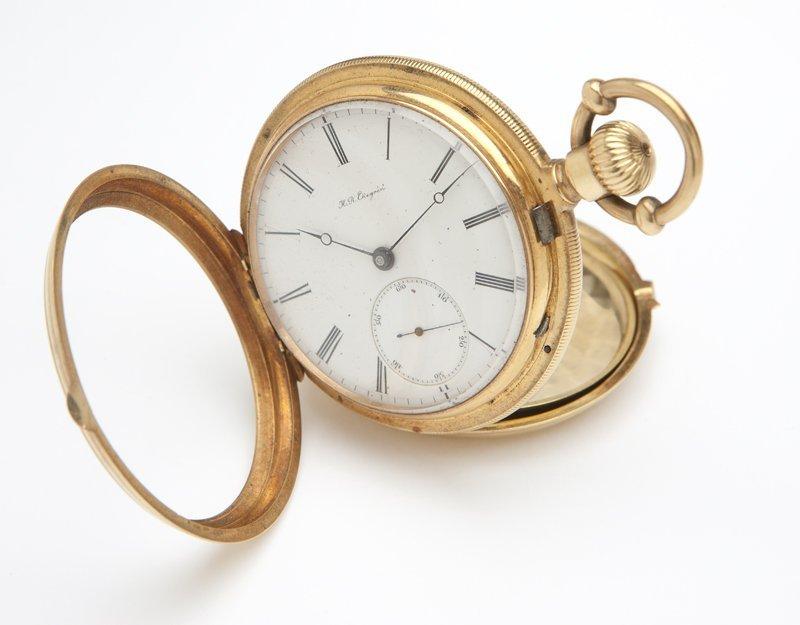 1111: A gold pocket watch, H. R. Ekegren