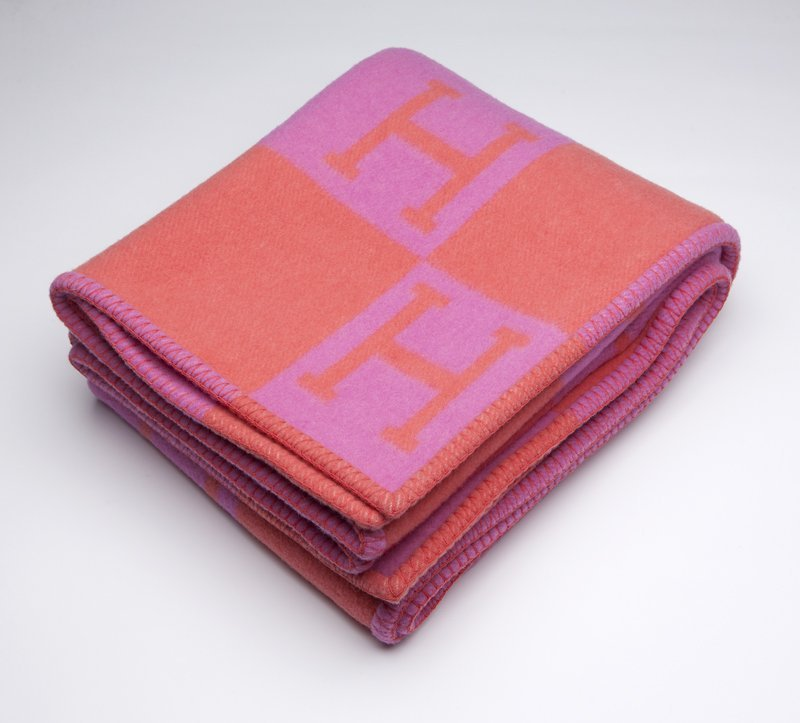 1282: An Hermes 'Avalon' wool and cashmere blanket