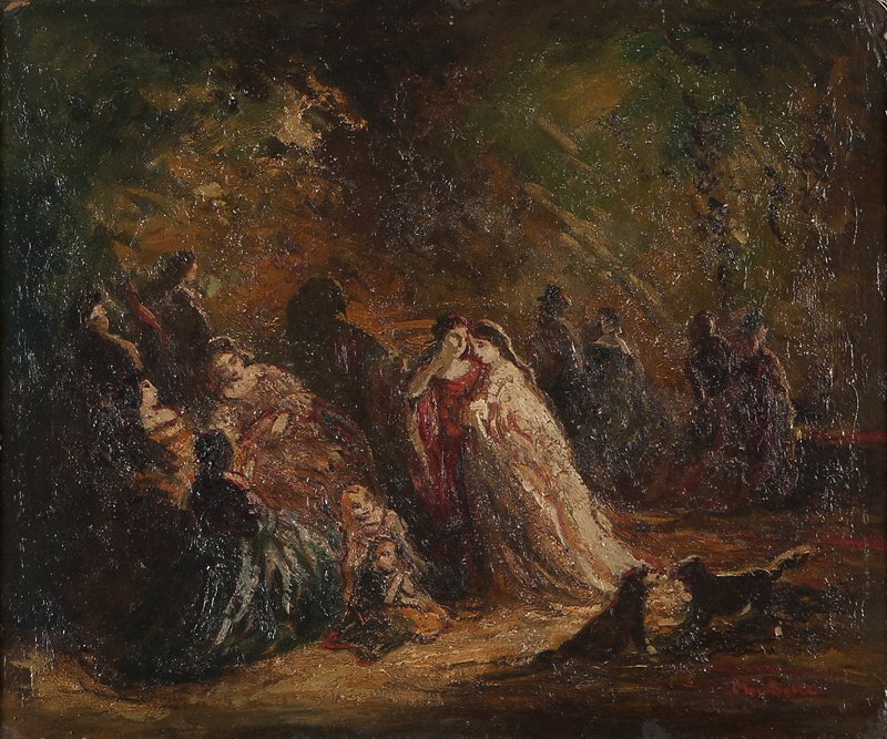 5: Adolphe Joseph Thomas Monticelli (1824-1886 French)