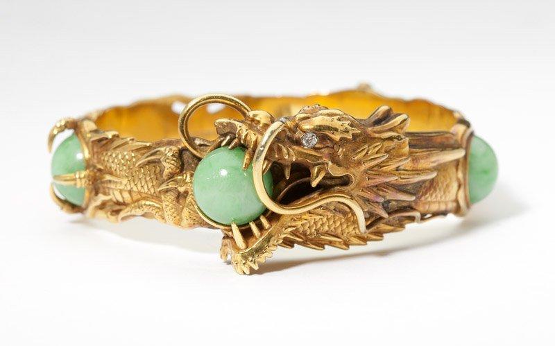 2: A jadeite bangle, by Arthur & Bond, YOKOHAMA