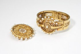 4: A set of antique French gold jewelry
