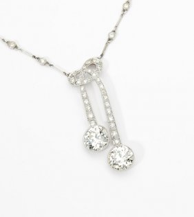 An Edwardian Twin Diamond Necklace