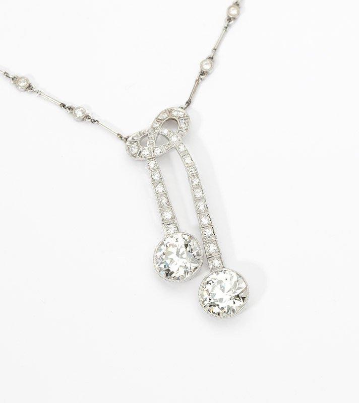 15: An Edwardian twin diamond necklace