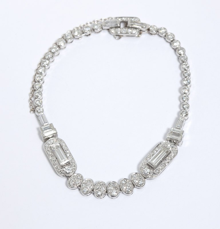 21: An Art Deco diamond bracelet, By Cartier