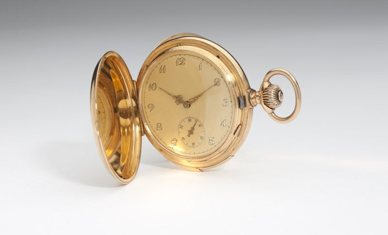 99: A Gents gold quarter-repeater pocket watch