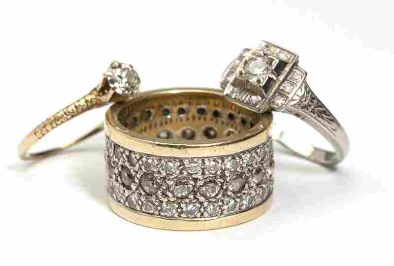 217: A collection of three diamond rings