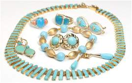 257 A collection of stone gold and costume jewelry