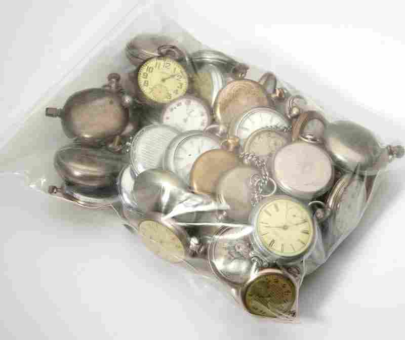 293: A group of 51 pocket watches