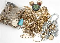 328 A large collection of costume jewelry and items
