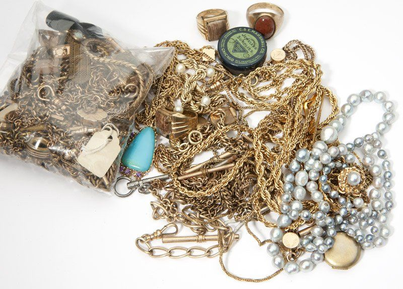 328: A large collection of costume jewelry and items