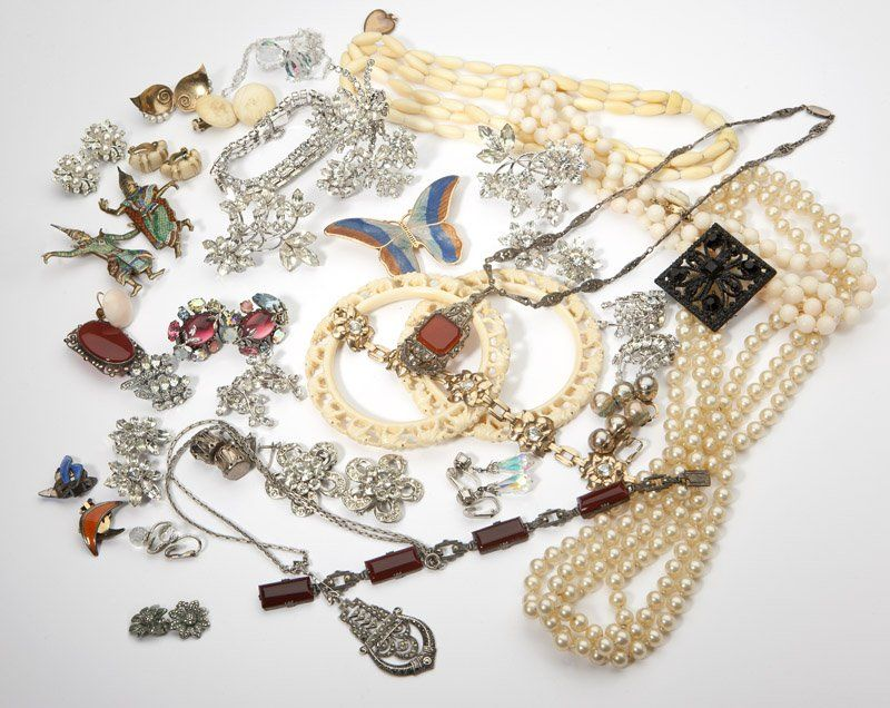 330: A large group of costume jewelry