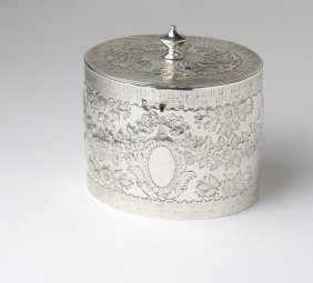 A George III sterling silver tea caddy