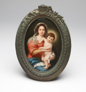 A Hutschenreuther porcelain plaque after Murillo