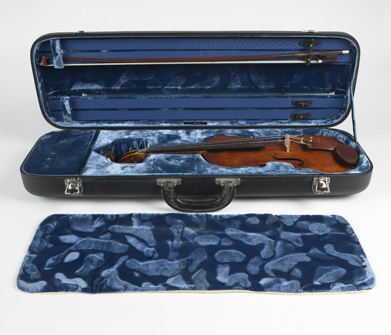 German violin 'Ficker', Jaeger case & French bow