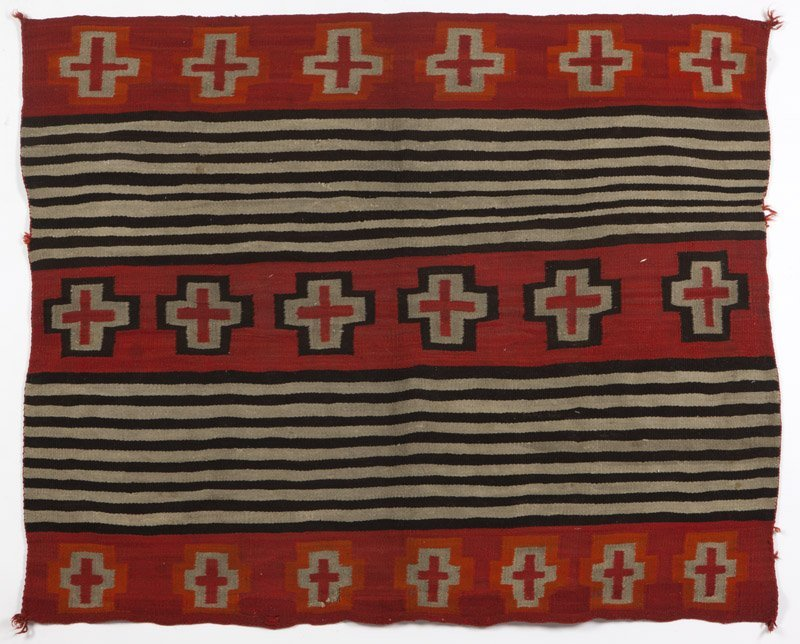 A Navajo Second Phase woman's wearing blanket