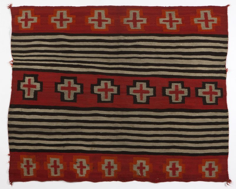 A Navajo Second Phase woman's wearing blanket - 2