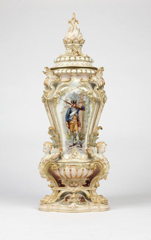 A large Berlin KPM porcelain covered vase