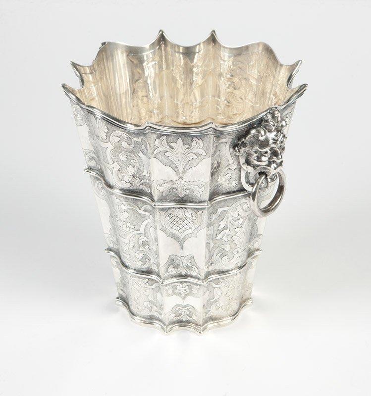 An Italian sterling silver wine cooler