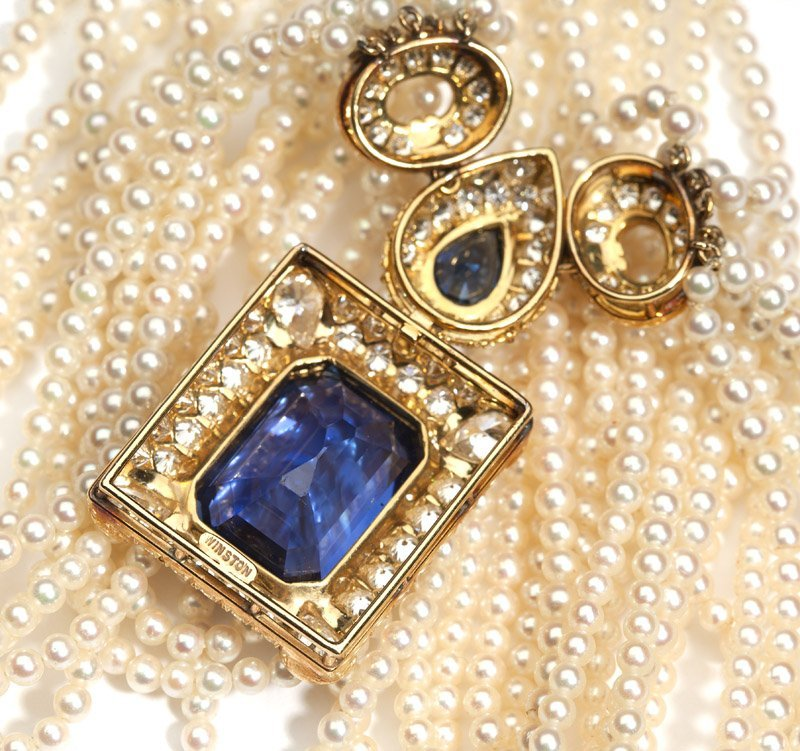 A sapphire and diamond necklace, Harry Winston - 2
