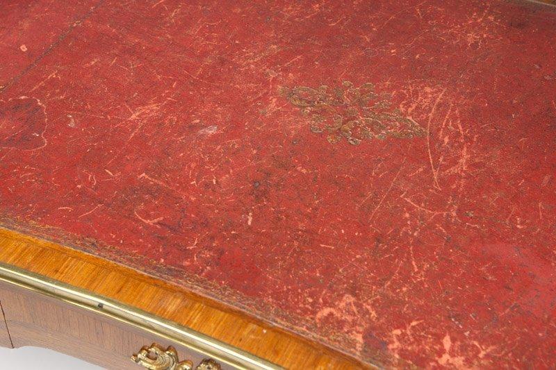 A Louis XV style parquetry bureau plat - 2